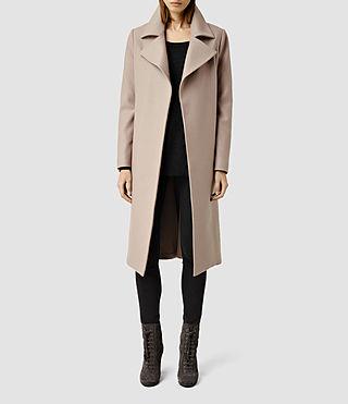 Womens Iya Coat (Taupe)