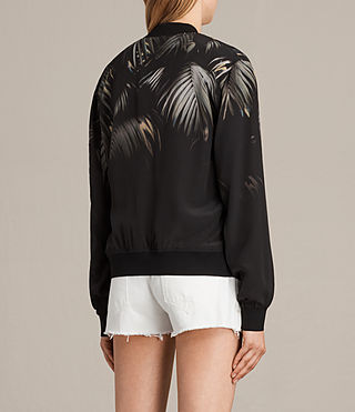 Womens Harlow Neluwa Silk Bomber Jacket (Black) - product_image_alt_text_4