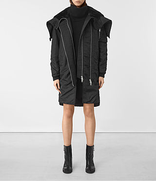 Damen Oren Parka (Black)