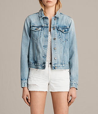 Womens Hay Denim Jacket (MID INDIGO BLUE) - product_image_alt_text_1