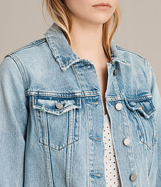 Women's Hay Denim Jacket (MID INDIGO BLUE) - Image 2