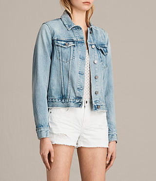 Women's Hay Denim Jacket (MID INDIGO BLUE) - Image 3