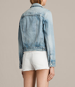 Women's Hay Denim Jacket (MID INDIGO BLUE) - Image 5
