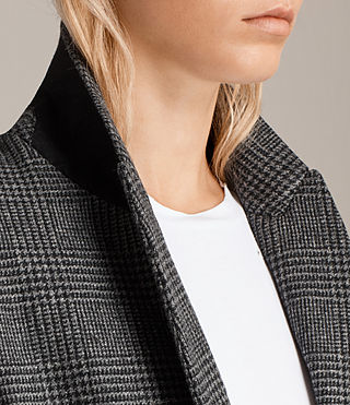 Women's Astrid Check Blazer (Grey Check) - product_image_alt_text_2