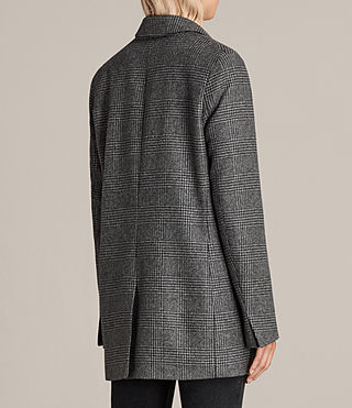Women's Astrid Check Blazer (Grey Check) - product_image_alt_text_5