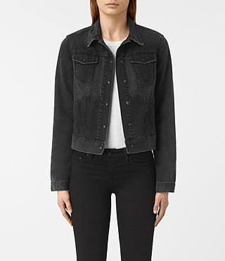 Womens Jasper Denim Jacket (Black)
