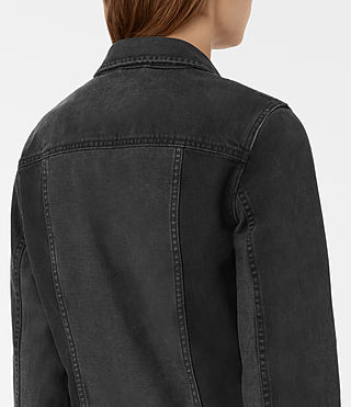 Womens Jasper Denim Jacket (Black) - product_image_alt_text_2