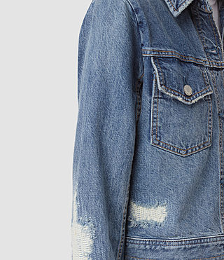 Womens Katie Distressed Jacket (Indigo Blue) - product_image_alt_text_4