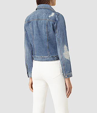 Womens Katie Distressed Jacket (Indigo Blue) - product_image_alt_text_5