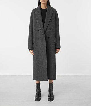 Womens Shelby Teco Coat (Black/White)