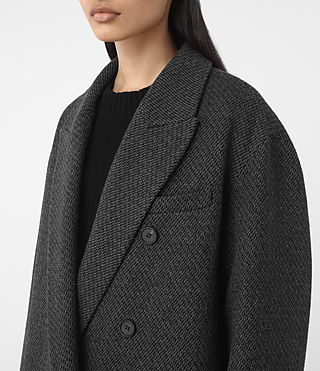 Donne Shelby Teco Coat (Black/White) - product_image_alt_text_2