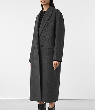 Donne Shelby Teco Coat (Black/White) - product_image_alt_text_3