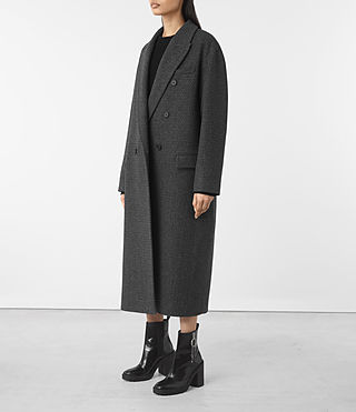 Donne Shelby Teco Coat (Black/White) - product_image_alt_text_4