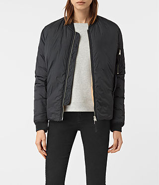 Womens Tyne Bomber Jacket (Slate Grey) - product_image_alt_text_1