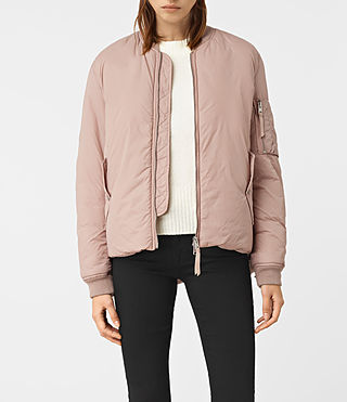 Womens Tyne Bomber Jacket (Dusty Pink) - product_image_alt_text_1