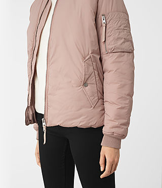 Womens Tyne Bomber Jacket (Dusty Pink) - product_image_alt_text_2