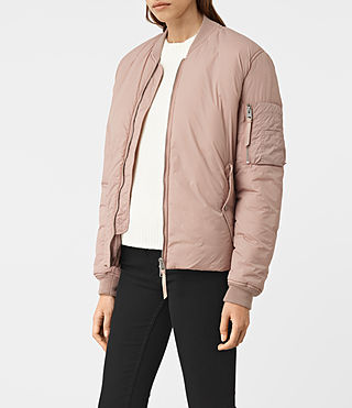 Womens Tyne Bomber Jacket (Dusty Pink) - product_image_alt_text_3