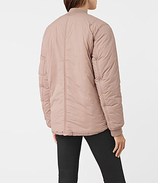 Womens Tyne Bomber Jacket (Dusty Pink) - product_image_alt_text_4