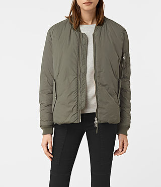Women's Tyne Bomber Jacket (Khaki Green)