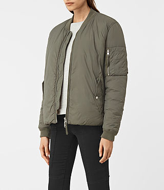Donne Tyne Bomber Jacket (Khaki Green) - product_image_alt_text_3