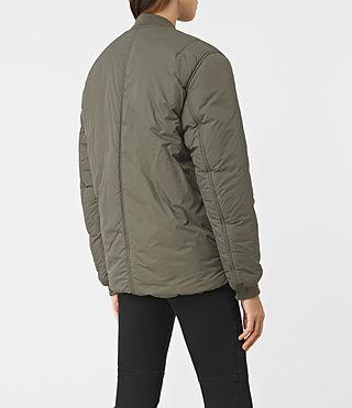 Mujer Tyne Bomber Jacket (Khaki Green) - product_image_alt_text_4