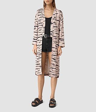 Women's Odelia Tye Kimono (Pink/Black)