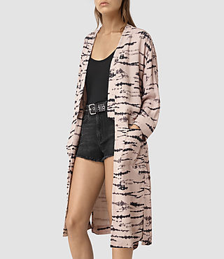 Women's Odelia Tye Kimono (Pink/Black) - product_image_alt_text_2