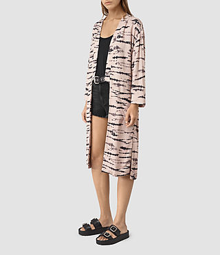 Women's Odelia Tye Kimono (Pink/Black) - product_image_alt_text_3