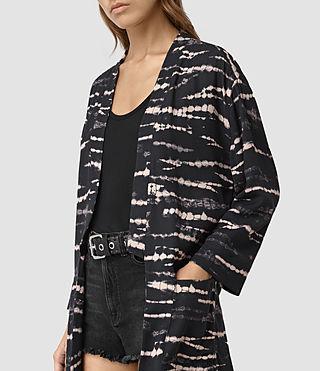 Donne Odelia Tye Kimono (BLACK/PINK) - product_image_alt_text_2