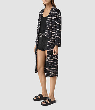 Womens Odelia Tye Kimono (BLACK/PINK) - product_image_alt_text_3