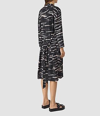 Womens Odelia Tye Kimono (BLACK/PINK) - product_image_alt_text_4
