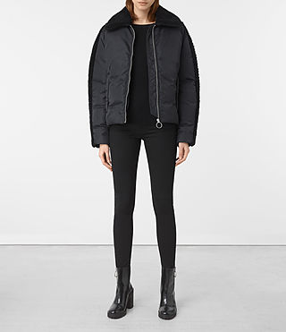 Womens Asher Puffer Jacket (Ink/Black)