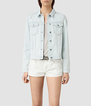 Mujer Kleo Denim Jacket (LIGHT INDIGO BLUE)