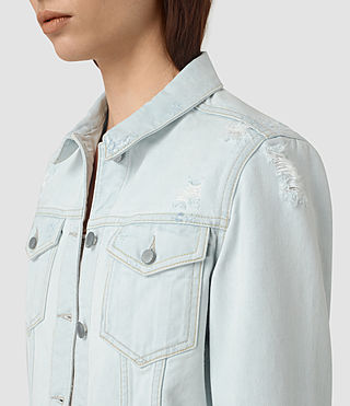 Mujer Kleo Denim Jacket (LIGHT INDIGO BLUE) - product_image_alt_text_2