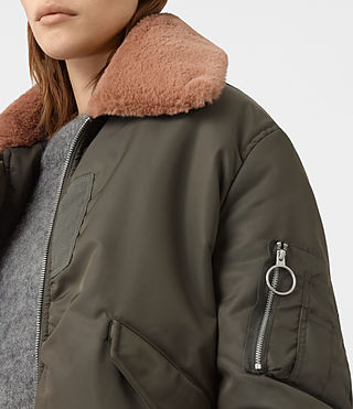 Femmes Luca Bomber Jacket (Khaki Green) - product_image_alt_text_2