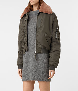 Damen Luca Bomber Jacket (Khaki Green) - product_image_alt_text_4