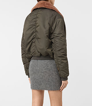Femmes Luca Bomber Jacket (Khaki Green) - product_image_alt_text_5