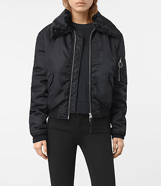 Womens Luca Bomber Jacket (Ink Blue)