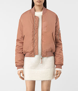 Womens Opex Bomber Jacket (SMOKE ORANGE)