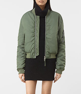 Womens Opex Bomber Jacket (SMOKE GREEN)