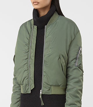 Femmes Opex Bomber Jacket (SMOKE GREEN) - product_image_alt_text_2