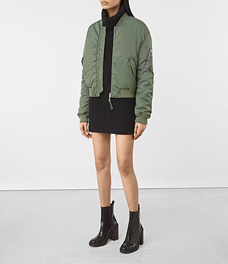 Femmes Opex Bomber Jacket (SMOKE GREEN) - product_image_alt_text_3