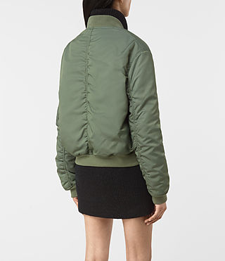 Femmes Opex Bomber Jacket (SMOKE GREEN) - product_image_alt_text_4