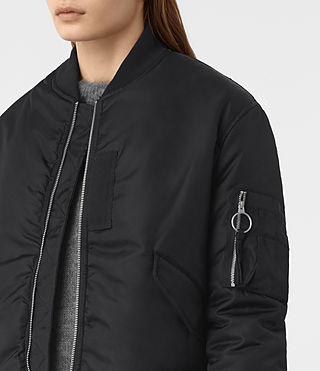 Women's Opex Lux Reversible Bomber Jacket (Ink Blue) - product_image_alt_text_3