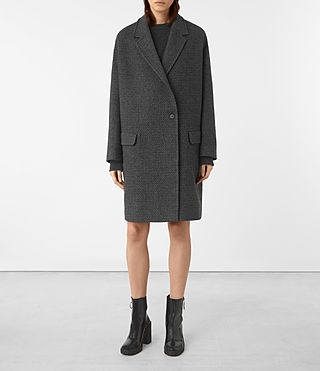 Donne Ada Teco Coat (Black/White)