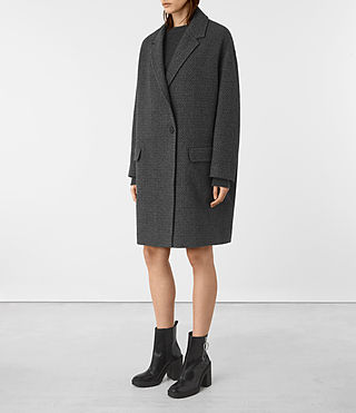 Womens Ada Teco Coat (Black/White) - product_image_alt_text_2