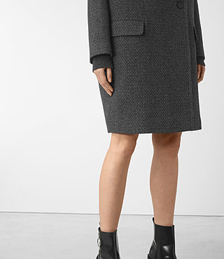 Womens Ada Teco Coat (Black/White) - product_image_alt_text_3