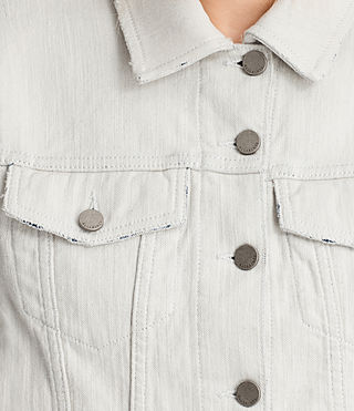Women's Justina Rip Denim Jacket (PORCELAIN WHITE) - product_image_alt_text_2