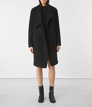 Mujer Ellis Coat (Black) - product_image_alt_text_1