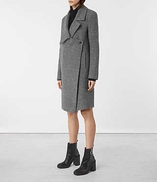 Mujer Ellis Coat (Grey) - product_image_alt_text_2